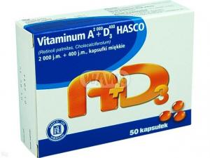 Vitamina A 2000+D3 400 HASCO x 50 kaps.