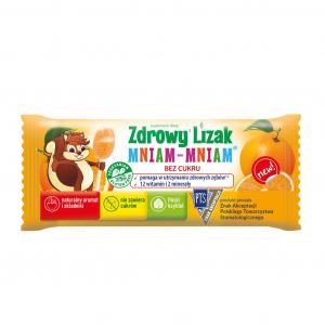 Zdrowy Lizak MNIAM-MNIAM Pomarańcza 1 szt.