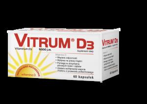 Vitrum D3 kaps. 0,025mgD31000j.m 60kaps.