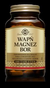 SOLGAR Wapń Magnez + Bor x 100 tabl.