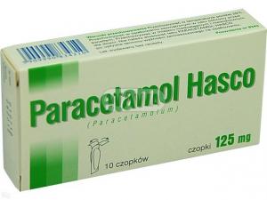 Paracetamol Hasco 125mg x 10czopków