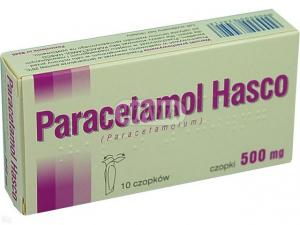 Paracetamol 500mg x 10 czopków