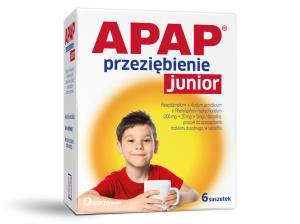 Apap Przeziębienie Junior x 6sasz.