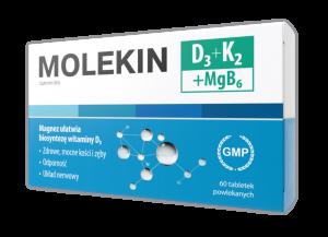 Molekin D3 + K2 + MgB6 tabl.powl. 60tabl.