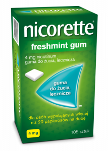 Nicorette Freshmint Guma 4mg x 105