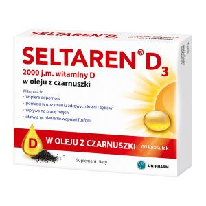 Seltaren Witamina D3 w oleju z czarnuszki 60 kaps.