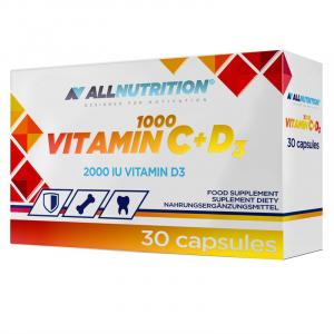 Allnutrition Vitamin C 1000 + D3 kaps. 30k