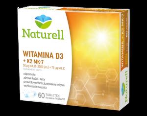 NATURELL Witamina D3+K2 MK-7 x 60tabl.