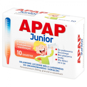 Apap Junior 250mg x 10 saszetek