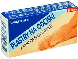 Plast.na odciski z kwasem salicylowym 8szt
