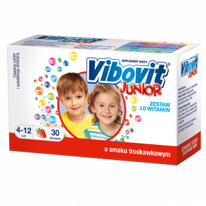 Vibovit Junior truskawkowy 30 szt.