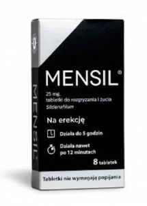 Mensil 25 mg 8 tabl.do rozgr. i żucia