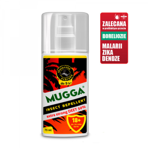 Mugga Extra Strong DEET 50% spray 75 ml