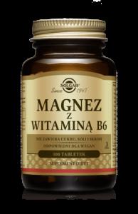 SOLGAR Magnez z witaminą B6 tabl. 100tabl.