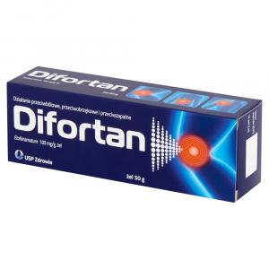 Difortan żel 0,1 g/g 1 tub.a 50g