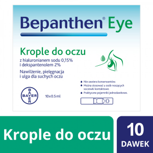 Bepanthen EYE krople do oczu 10 szt.0,5ml