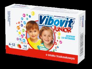 Vibovit Junior o smaku truskawkowym 14 sas