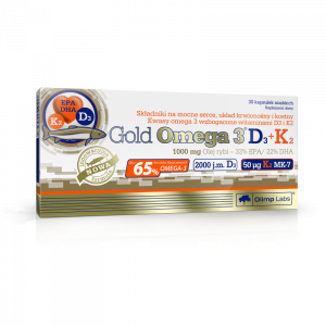 OLIMP Gold Omega 3 D3+K2 kaps. 30 szt.