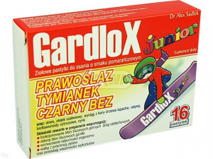 Gardlox Junior x 16 pastylek