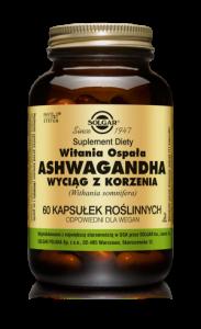 SOLGAR Ashwagandha wyciąg z korz. x60kaps.