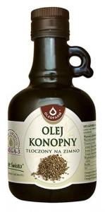 Olej konopny tłoczony na zimno 250 ml