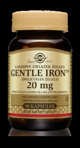 SOLGAR Gentle Iron Żelazo 20mg x 90 kaps.