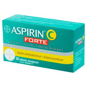 ASPIRIN C FORTE x 10tabl.mus.