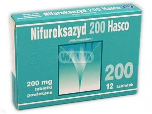 Nifuroksazyd Hasco 200mg x 12 tabl.