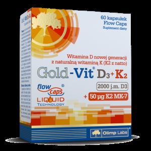Olimp Gold-Vit D3 2000 j.m.+K2 kaps. 60kap