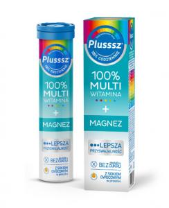 Plusssz 100% Multiwitamina + Magnez x 20ta