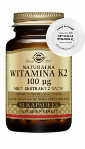SOLGAR Witamina K2 naturalna kaps. 0,1mg 5