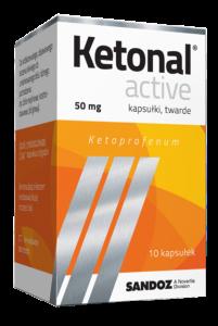 Ketonal Active 50mg x 10kaps.