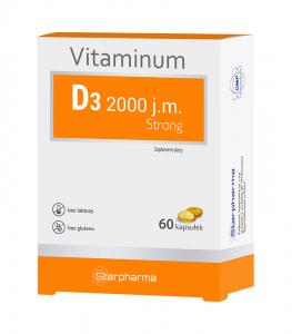 Vitaminum D3 2000 j.m. Strong kaps. 60kaps