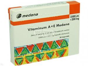 Vitamina A+E 2500 j+200mg x 20kaps.MEDANA