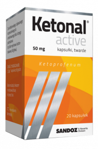 Ketonal Active 50mg x 20kaps.