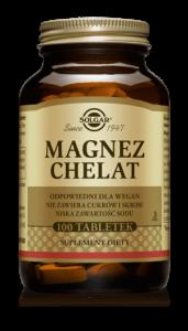 SOLGAR Magnez chelat aminokwasowy x 100