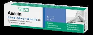 Aescin żel (0,02g+0,05g+50j.m.) 40 g