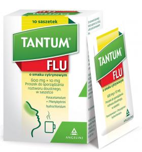 Tantum Flu smak cytrynowy prosz.10 sasz