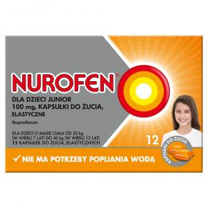 Nurofen dla dzieci Junior 12 kaps.do żucia