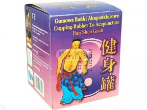 Bańki akupunkturowe gumowe