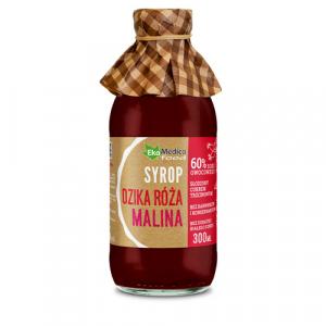 EkaMedica Syrop Dzika Róża Malina 300 ml