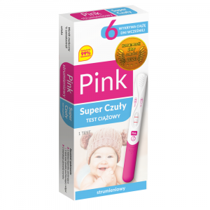Test ciążowy Pink Super Czuły strum.1szt