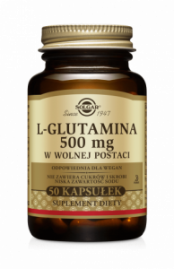 SOLGAR L-Glutamina kaps. 0,5 g 50 kaps.