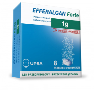 Efferalgan Forte 1g x 8tabl.mus.