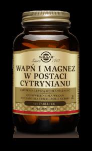 SOLGAR Wapń i Magnez w post.cytr. x 100 t
