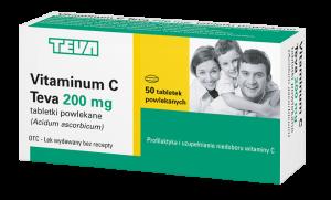 Vitaminum C Teva 200 x 50tabl