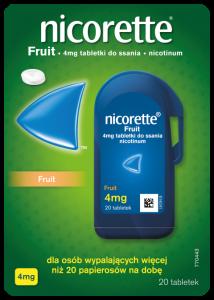 Nicorette Fruit tabl.dossania 4mg 20 tabl.