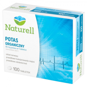 NATURELL Potas organiczny tabl. 100tabl.