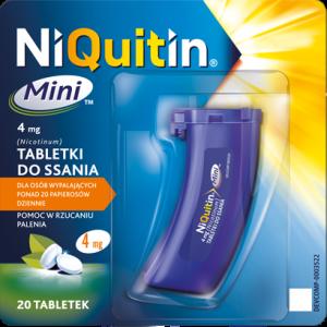 NiQuitin Mini 4mg x 20 tabl. do ssania