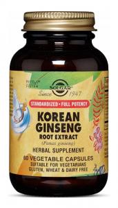 SOLGAR Korean Ginseng x 60 kaps.